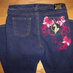 BABY PHAT EMBROIDERED WOMEN'S JEANS SZ 18